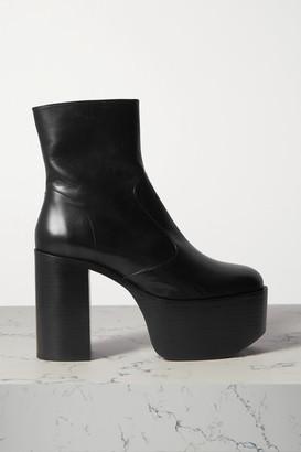 Simon Miller High Raid Leather Platform Ankle Boots - Black