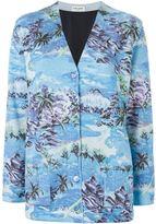 Saint Laurent palm beach print cardigan