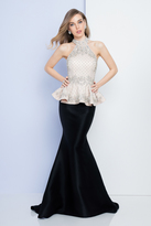Terani Couture 1722E4209 Embellished High Neckline Evening Gown