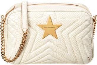 Stella McCartney Stella Star Print Croc-Embossed Chain Shoulder Bag