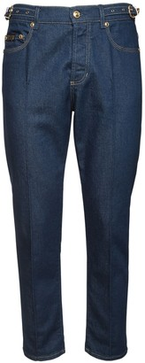 Versace 18cm Stretch Cotton Denim Jeans