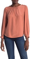 Rebecca Taylor Tailored By Long Sleeve Bow Cuff Silk Blouse