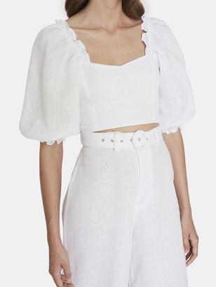 Faithfull The Brand Pietra Linen Crop Top