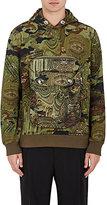 Givenchy Men's Camouflage- & Money-Print Hoodie-DARK GREEN