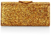 Edie Parker Large Lara Glitter Acrylic Clutch