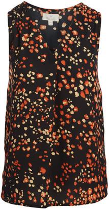 Très Jolie Women's Blouses BLACK - Black & Rust Floral V-Neck Sleeveless Tunic - Women