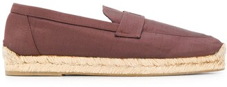 Hermes 1990s Pre-Owned Logo Espadrille Flats