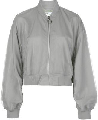 Off-White arrow print bomber jacket
