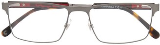 Carrera Tortoiseshell Tip Rectangle Glasses