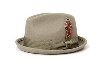 Brixton Gain Fedora Unisex Headwear, Unisex, 00001,XL