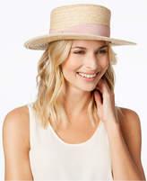Nine West Woven Boater Hat