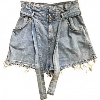 MANGO Blue Denim - Jeans Shorts for Women