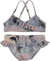 Molo Norma Dolphins Sunset Two-Piece Swimsuit, Size 2T-12