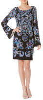 Laundry by Shelli Segal Long Bell Sleeve Shift Dress