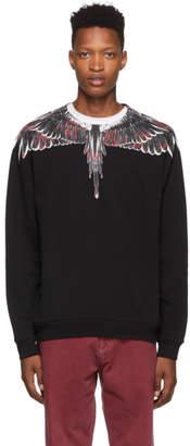 Marcelo Burlon County of Milan Black Flower Wings Sweatshirt