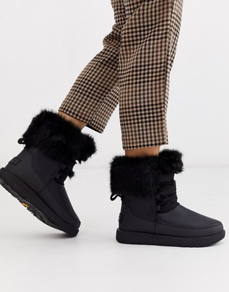 UGG Gracie waterproof fluffy ankle boots in black