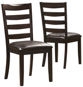 Monarch Set of Two Slat-Back Dining Chairs