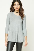 Forever 21 FOREVER 21+ Ribbed Knit Trapeze Top