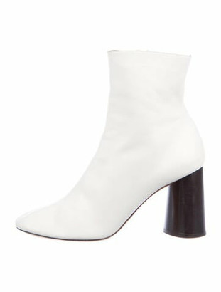Celine Leather Boots White