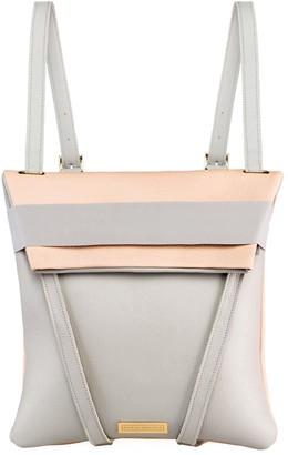 Maria Maleta Backpack Nude Pink Blush & Grey Leather