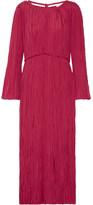 Lemaire Pleated Satin Midi Dress - FR38