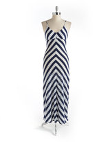 BACKLESS Chevron Striped Maxi Dress