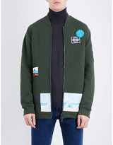 Kenzo Badge-detailed cotton-blend sweatshirt