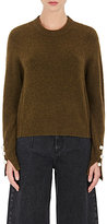 3.1 Phillip Lim Women's Embellished-Sleeve Creweck Sweater