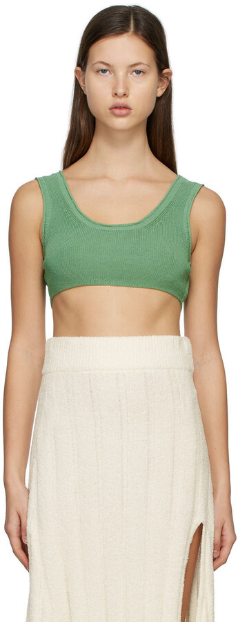Thumbnail for your product : RUS SSENSE Exclusive Green Aurore Bralette