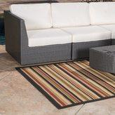 Christopher Knight Home Roxanne Aaron Indoor/Outdoor Brown Stripe Rug (7' x 10')