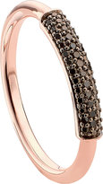 Monica Vinader Stellar 18ct rose gold-plated vermeil and black diamond ring