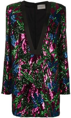 Giuseppe di Morabito embellished plunge V-neck dress