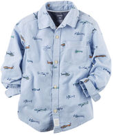 Carter's Oxford Printed Button-Front Shirt