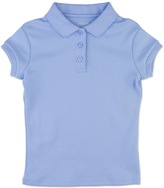Chaps Girls 7-16 Cap Sleeve Picot School Uniform Polo