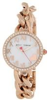 Betsey Johnson Women's Chain Link Bracelet Watch