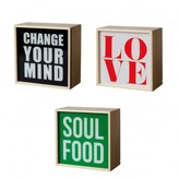 Seletti Sale - hange Your Mind/Love/Soul Food Light Box