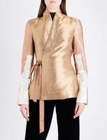 Rick Owens Wrap-front metallic jacket