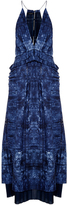 Thakoon Open Weave Cotton Ruffled Long Dress