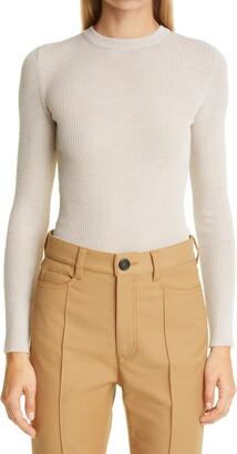 Meryll Rogge Rib Wool Crepe Crewneck Sweater
