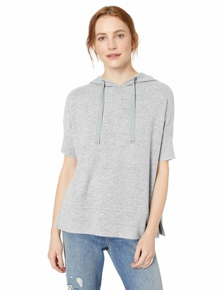 Daily Ritual Women's Cozy Knit Oversized-Fit Hooded Short-Sleeve Shirt