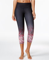 Gaiam Tyra Om Printed Capri Yoga Leggings
