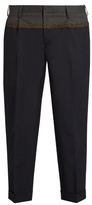 Kolor Slim-fit Bi-colour Cropped Trousers