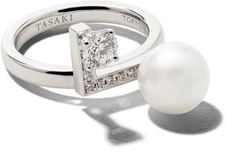 Tasaki 18kt white gold Blance Note diamond ring