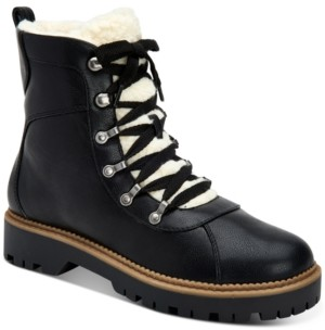 Style&Co. Style & Co Morggan Lace-Up Combat Booties, Created for Macy's Women's Shoes