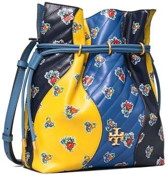Tory Burch Kira Chevron Floral Patchwork Bucket Bag