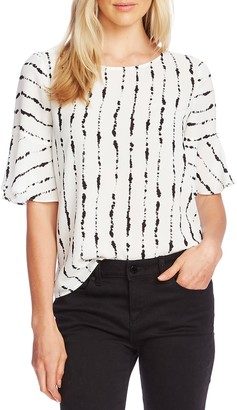 Vince Camuto Stripe Flutter Sleeve Top