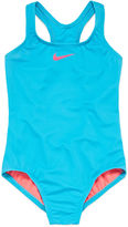 Nike Girls Solid One Piece Swimsuit-Big Kid