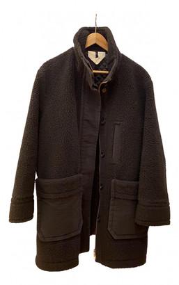Arket Black Faux fur Coats