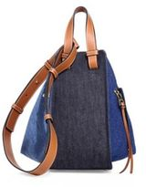 Loewe Hammock Small Denim and Leather Hobo Bag