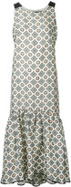 Muller of Yoshio Kubo Muller Of Yoshiokubo - tile print midi dress - women - Silk/Linen/Flax/Polyester/Rayon - 38